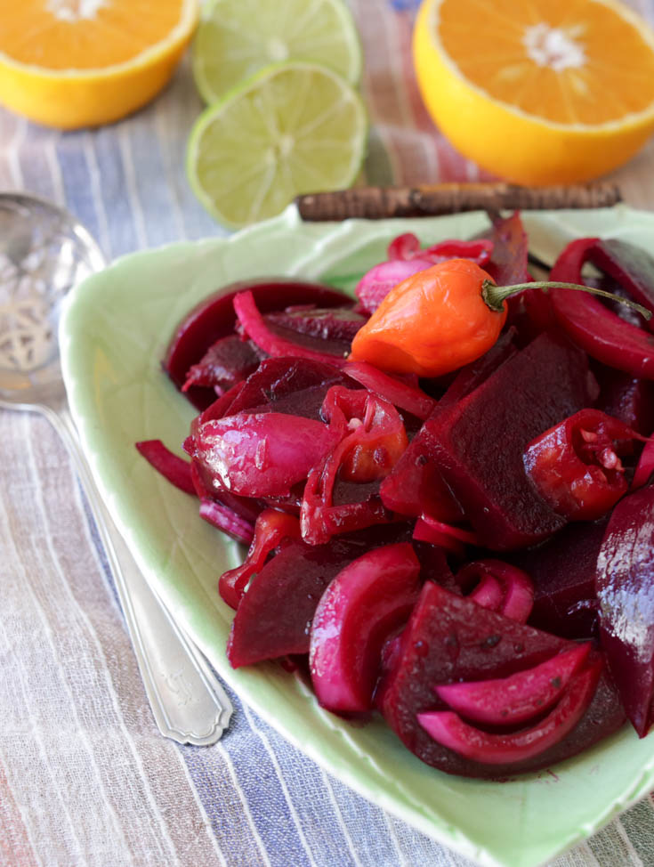 spicy pickled beet salad