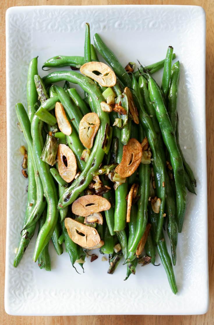 Garlic Green Beans - Hilah Cooking