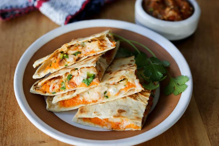 Shrimp And Sweet Potato Quesadillas