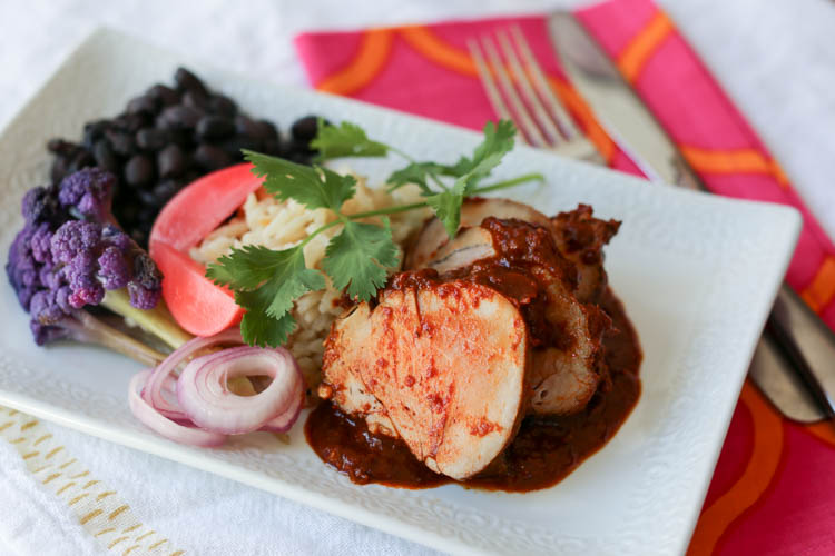 Chorizo spiced pork tenderloin - the flavors of chorizo sausage put into a marinade for a lean pork tenderloin. This is easy enough for a weeknight meal and fancy enough for company
