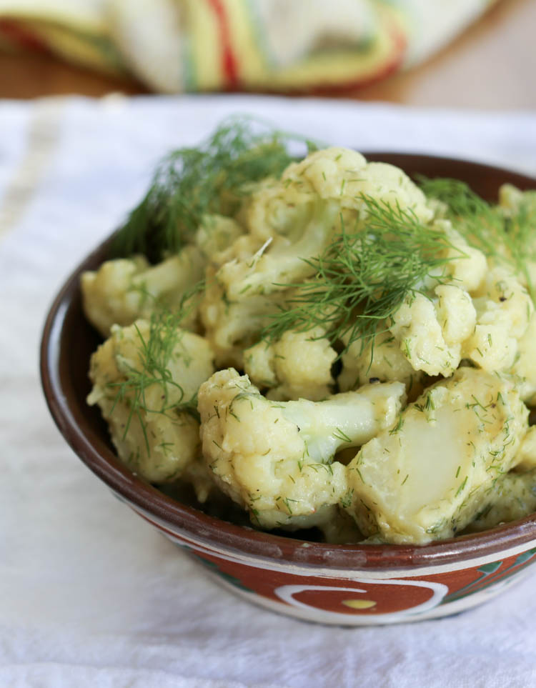 Cauliflower potato salad has all the traditional creaminess of potato salad, but with some cauliflower in there, too, for good measure
