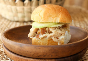 Kalua Pork sliders - a crowd-pleasing, simple party food! Make the shredded pork in your slowcooker or oven