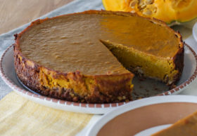 kabocha squash pie with nut crust