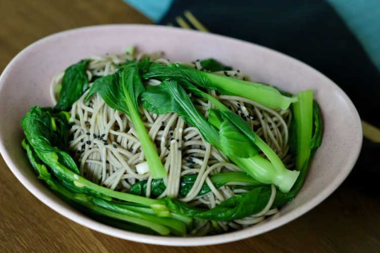bok choy with soba noodles