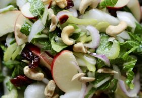 Bok Choy salad with apples