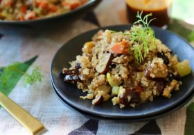 quinoa with chestnuts and cherries