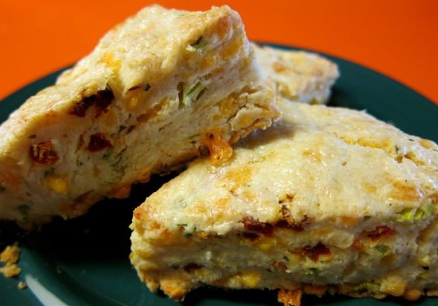sun-dried tomato and cheddar scones