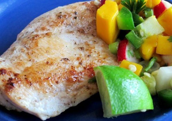 Caribbean Chicken with Mango Salsa