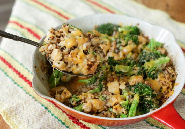 chicken quinoa broccoli casserole