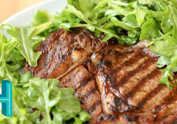 Marinated Grilled Steak with Arugula Salad