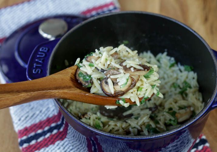 orzo with mushrooms