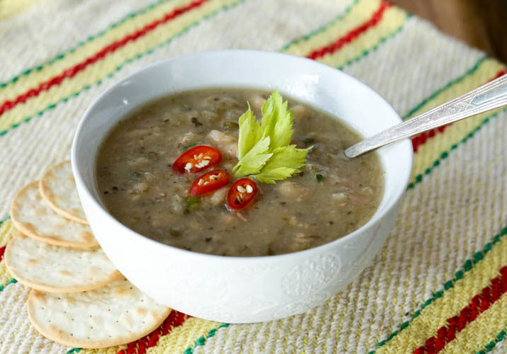 slow cooker navy bean soup-2